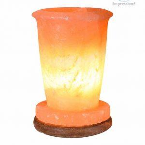 Glass Shape Himalayan Pink Salt Lamp