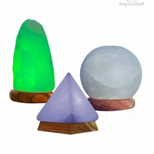 Set of Himalayan Salt USB Lamps